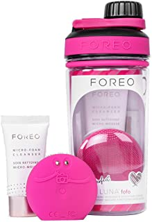 FOREO Gift Set FOREO Picture Perfect LUNA fofo + Micro-Foam Cleanser + Micro-foam Cleanser 20ml + Water bottle, Fuchsia