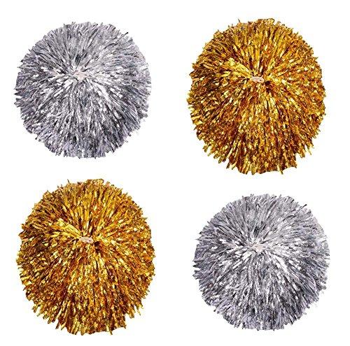 Black Temptation Ensemble de 4 Pommes de Pomme de Pommes à la Pomme Pure Color Cheesleading, Gold + Silver