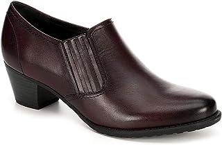 Medicus Womens Klara Slip On Leather Heeled Pump Shoes