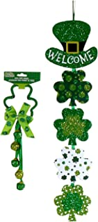 St. Patrick's Day Door Knob Bell Hanger and Welcome Banner Bundle - 2 pc