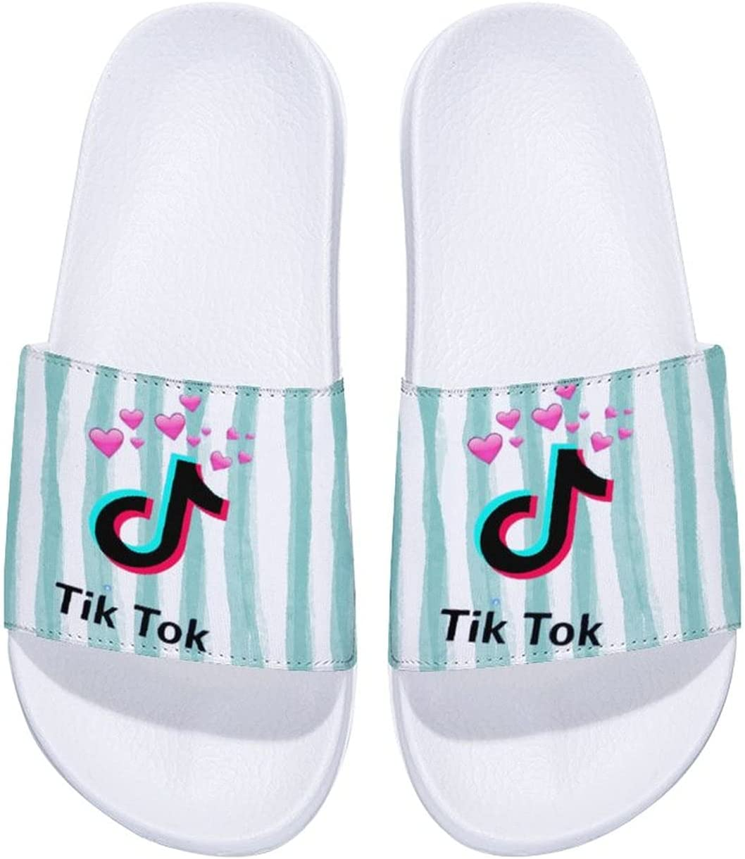 T-ik Tok Kids Household Sandals Anti-Slip Comfortable Indoor Outdoor Slippers for Girls and Boys,Summer Beach Water Shoes 12