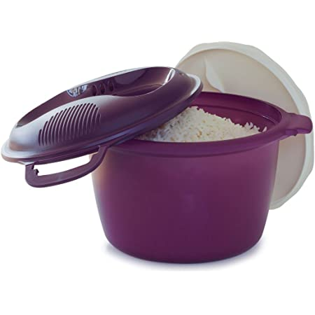 tupperware round microwave rice cooker hot pink