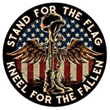 Battlefield Cross Stand for The Flag Kneel for The Fallen Patriotic - 7' Decal for Cars, Trucks, Motorcycles, Boats & Laptops