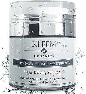Pure Anti-Wrinkle Face & Neck Retinol Cream with Hyaluronic Acid - Premium Anti-Aging Face Moisturizer - Anti Aging Firming Facial Cream to Reduce Wrinkles, Dark Spots, Fine Lines, Sun Damage - 1.7 Oz