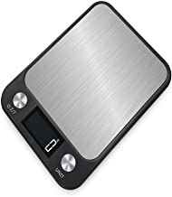 WSJTT الأدوات المنزلية المطبخ موازين إلكترونية للوزن الغذاء دقيق حتى 5 كجم مع قياس الحاويات (اللون: أ)
