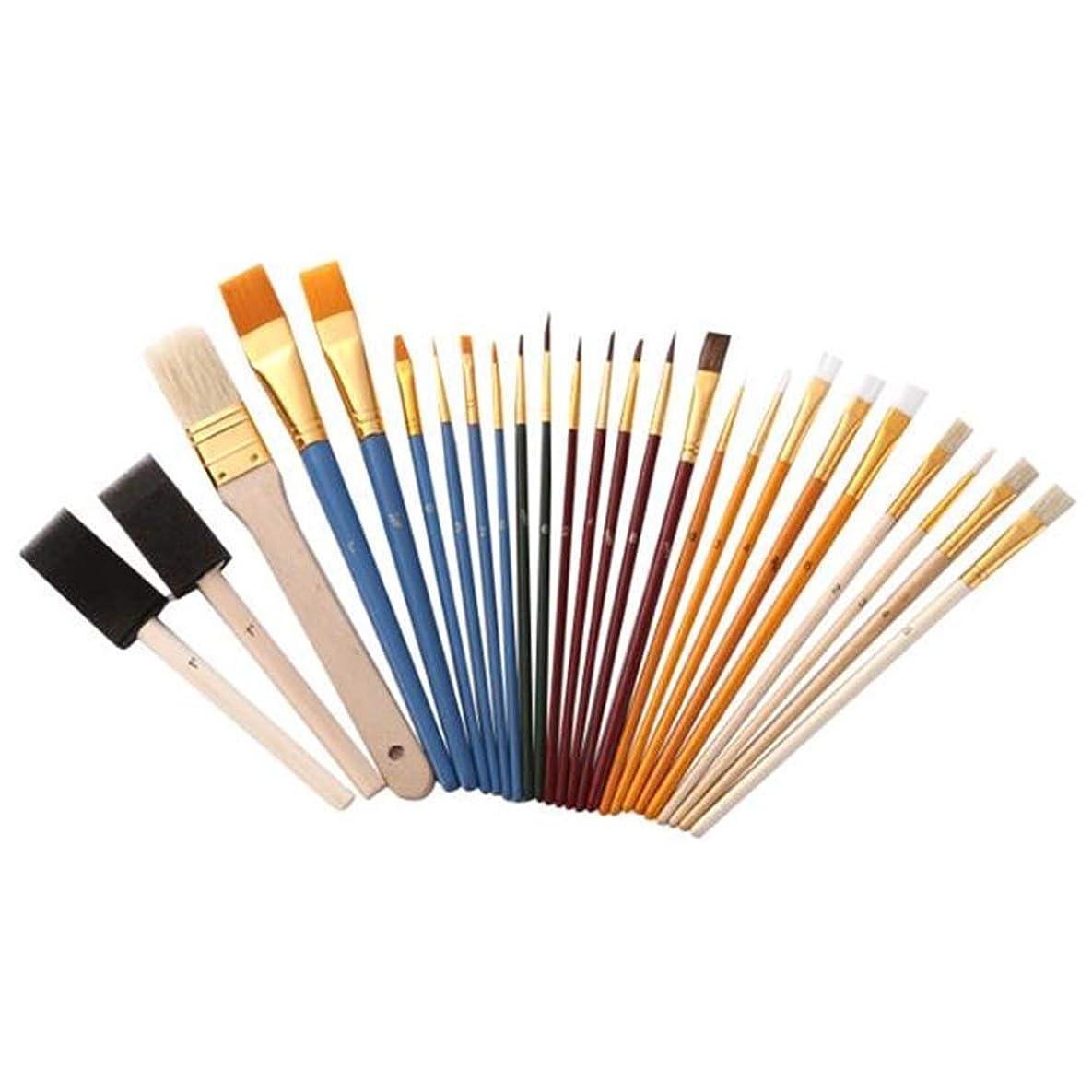 靴ブーム理論油絵筆セット 多機能絵画ブラシ実用ブラシセット 毛は柔らかく、耐久性があります (Color : Multi-colored, Size : 25pcs)