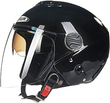 Yyou Offener Motorradhelm Retro Jet Helm Motorrad Roller Sturzhelm Doppel Sonnenblende Dot Zertifiziert Sport Freizeit