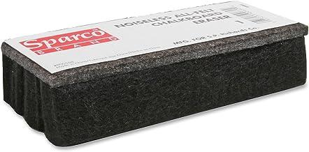 Sparco SPR1 Chalkboard Eraser, All-Felt, Dustless, Black