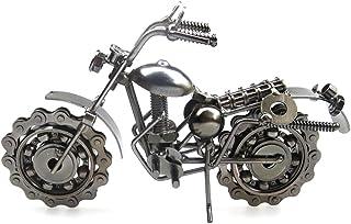 VORCOOL modelo de moto Harley Davidson Iron Vintage Motocicleta miniatura Retro artesanía (gris)