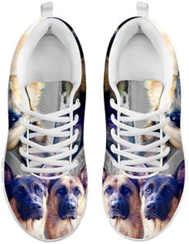 Tyska herdar Dog Print Woherrar springaning skor skor skor Designad av Laurel Cowell  letar efter försäljningsagent