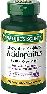 nature's bounty acidophilus chewable
