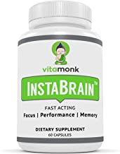 InstaBrain™ Fast-Acting Motivation Supplement and Creativity Booster - On Demand Quick Focus for Improved Clean Energy and...