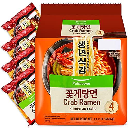 Pulmuone Non-Fried Ramyun Korean Noodles - 4 Pack...