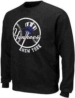 Majestic New York Yankees MLB Licensed Jameson Sweatshirt Men Charcoal Big Sizes