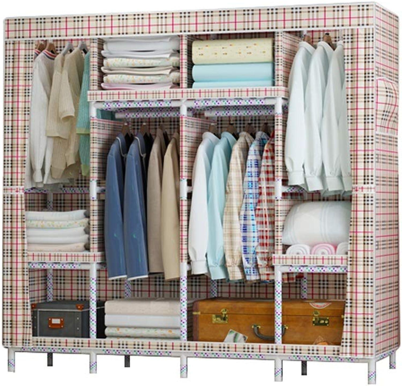 Simple wardrobe Simple wardrobe 170  170  45cm Oxford Cloth Solid Wood Storage Large Capacity Assembly Wardrobe (color   C)