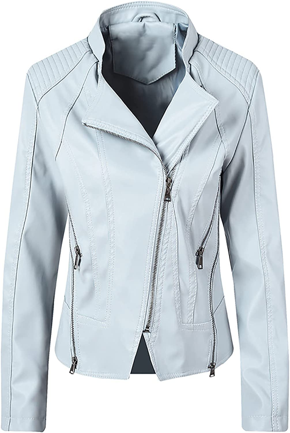 Womens Faux Leather Superlatite Jacket Bomber Real Lambskin At the price of surprise Biker Motorcycle