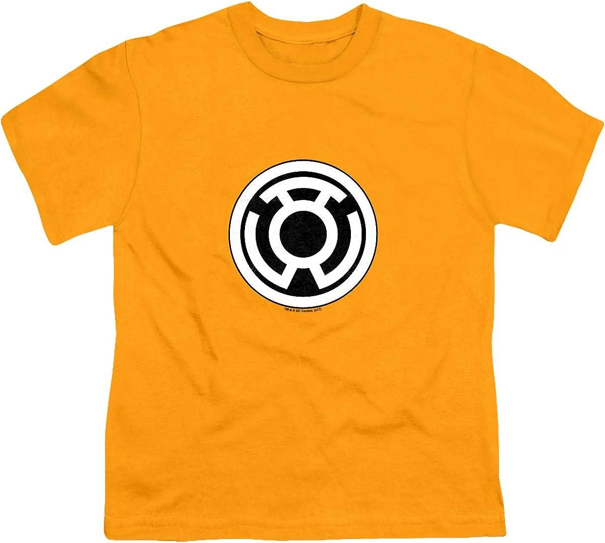 Green Lantern Sinestro Corps Logo Unisex Youth T Shirt, Gold, X-Large