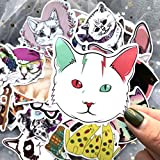 ZNMSB 50 Lindos Dibujos Animados Mascota Gato Maleta Trolley Maleta Maleta Pegatinas pintadas a Mano Pegatinas de Gato