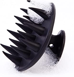 Beauenty Soft Silicone Hair Comb, Hair Scalp Massager Shampoo Brush (Black)