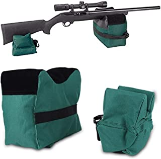 GOTOTOP Outdoor Shooting Rest Bag - Target Sports Bench Unfilled Front & Rear Support Bags for Shooting