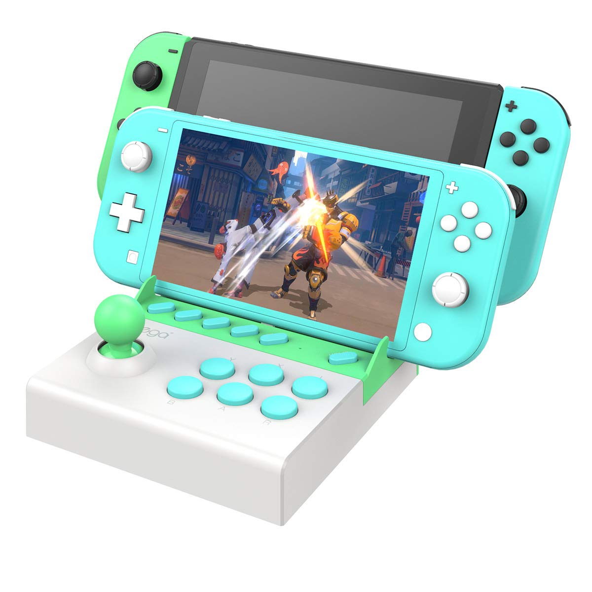 Mini Arcade Stick para Nintendo Switch, Mini Palo de lucha para juegos de Nintendo Switch - Animal Crossing New Horizons Edition: Amazon.es: Electrónica