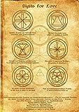 Sigils for Love Scroll Geniuses Kabbalah Poster Wicca Pagan Print Art Witch Magick Runes