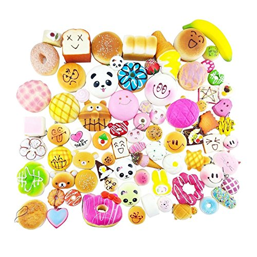 Gemini Mall® zufällige 15pcs Squishies Pack Jumbo mittel Mini Soft Squishy Kuchen/Panda/Brot/Brötchen Handy Straps Kombipaket Good Smell Random 15pcs squishies