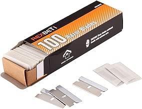 Single Edge Industrial Razor Blades By REXBETI, Box of 100