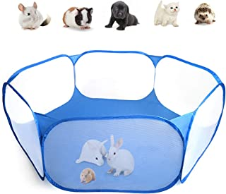 Casifor Guinea Pig Cage Rabbit Cage Indoor with Mat Playpen Perfect Size for Small Animal Pet Play Pen Easy to Clean Exercise Yard Fence Protable Tent for Hamsters, Chinchillas, Hedgehog, Puppy, Cats