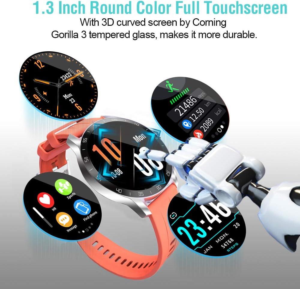 Impermeabile IP68 Cardiofrequenzimetro da Polso Contapassi Activity Tracker Cronometro per Android iOS Blackview X1 Smartwatch Uomo Donna Orologio Fitness Con 2 Cinturino in Silicone