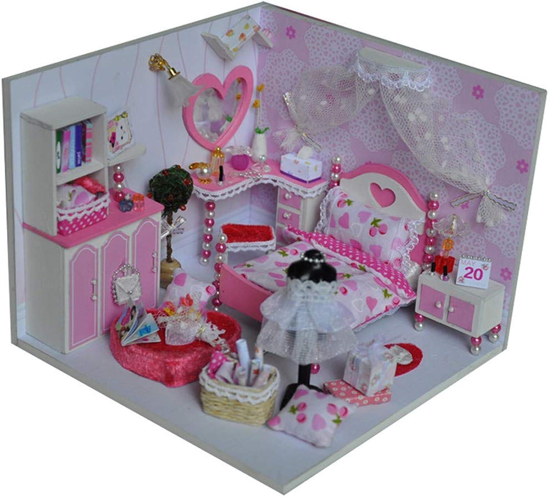 promocionales de incentivo Juego de muñecas DIY en en en miniatura Diy House Dream Sweetheart Make Small House Modelo de construcción Juguetes ensamblados Regalos creativos De madera DIY Dollhouse Mini Kit hecho a mano para niñas Cab  100% precio garantizado