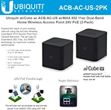 airCube ac ACB-AC-US airMAX 802.11ac Dual-Band Home Wireless Access Point PoE 24V (2-Pack)
