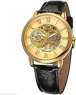 un bel tocco (ウンベルトッコ)アンティーク風 スケルトン 腕時計 メンズ 手巻き 自動巻 クラシカル (ゴールド/ゴールド)
