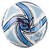 PUMA OM Future Flare Mini Ball Balón de Fútbol, Adultos Unisex, White-Bleu Azur