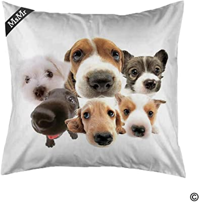 MsMr Throw Pillow Cover Personalized Pillowcase Cover Decorative Soft Cushion Case 18
