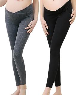 7d3e9fa0b62 Vocni Women s Comfortable Maternity Cotton Leggings Full Length Pregnancy  Maternity Leggings