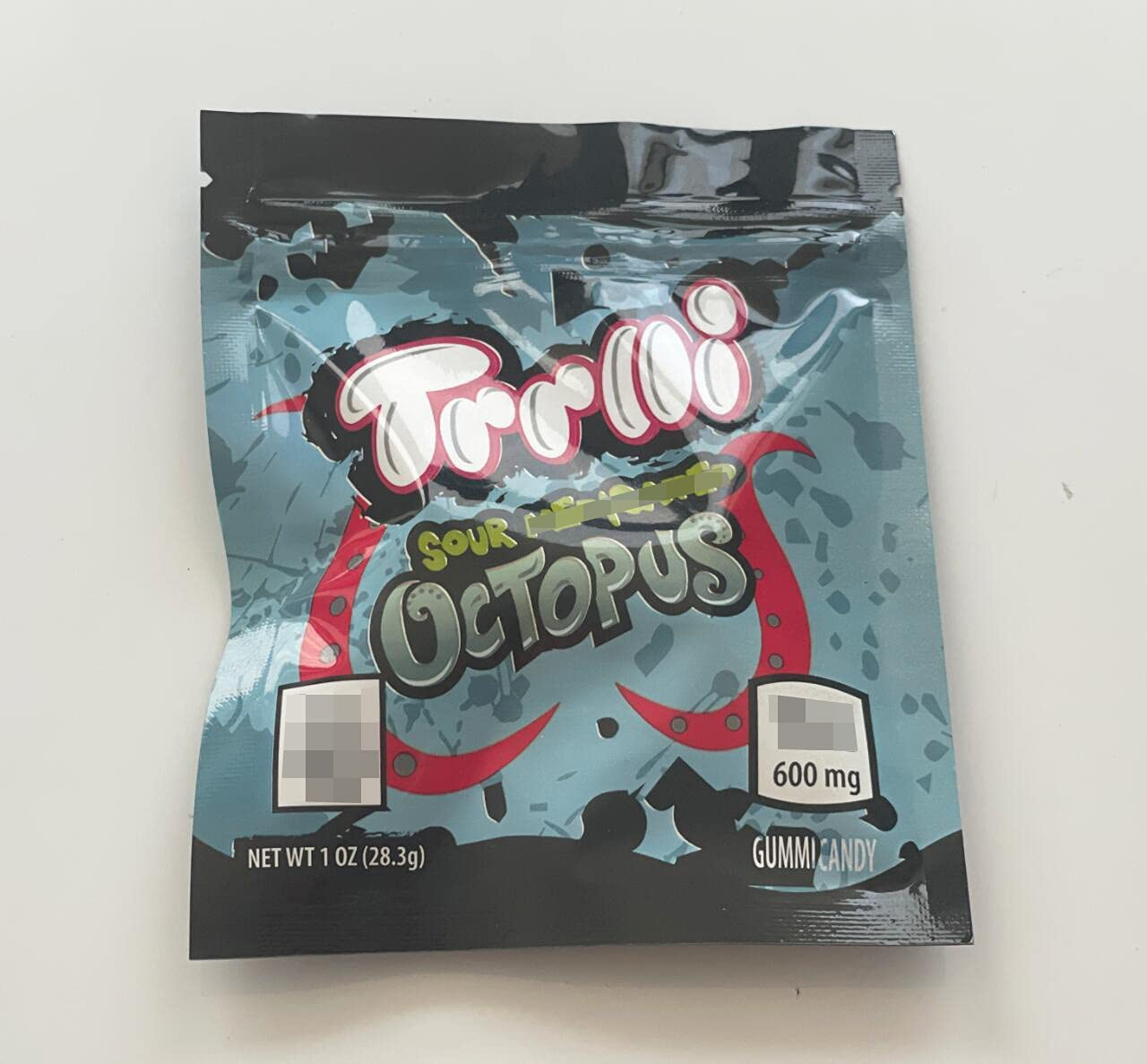 Opening large release sale 250 PCS A surprise price is realized Treats Bags Edible Sour Trrlli Packaging Octopus 3.5×4.3