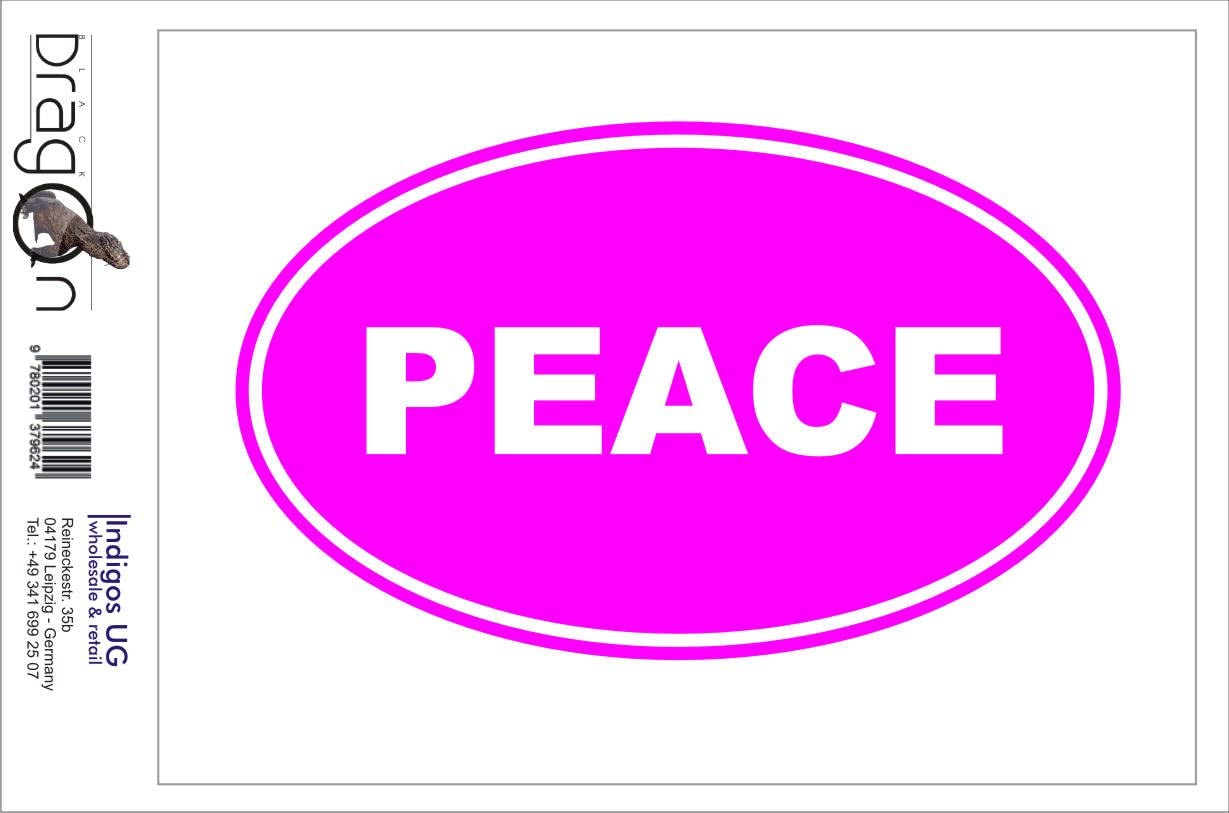 Indigos Ug Aufkleber Autoaufkleber Jdm Die Cut Peace Euro Oval Sign Folie Auto Laptop Tuning Sticker Decal Heckscheibe Lkw 1730 Pink 139mm X86mm Auto