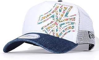 NEW ERA メッシュキャップ 帽子 スナップバック デニム フラワーNYロゴ バタリオン (11901231) O/S WHI-IDDN