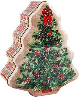 Scatola Latta Biscotti Natale.Amazon It Scatole Latta Natale Casa E Cucina