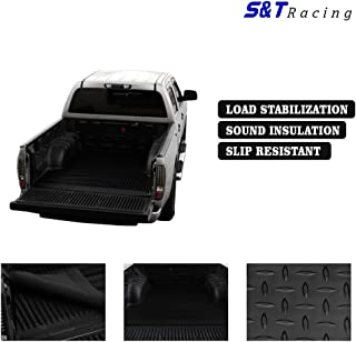 S & T RACING INC 1983-2012 Compatible with Ranger Rubber Diamond   Black 7 Ft Long Truck Bed Floor Mat Carpet