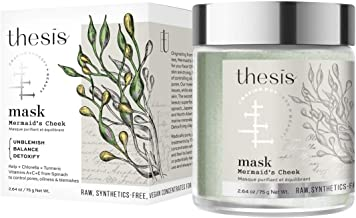 Thesis Organic Natural Face Mask - Mermaid's Cheek for Oily, Combination, Problem, Acne Prone Skin - Detoxing, Balancing, with Organic Kelp, French Green Clay. No Synthetics, No Preservatives