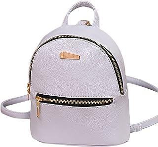 Anihc Koreanische Mode Mode einfache Doppelrücken Mini Mädchen Rucksack Damen kleinen Rucksack Rucksack Schultasche lässig...