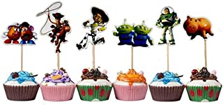 TOYSTORYCAKE Toy Story Themed Decorative Cupcake Toppers Party Pack for 24 Cupcakes