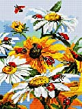 GMMH Diamond Completo bedeckung con Marco de Madera Painting Juego de 30x 40Diamante Pintura Bordado Mano Manualidades mosaicos Flores Cesta Casa Am Bach (ej332)