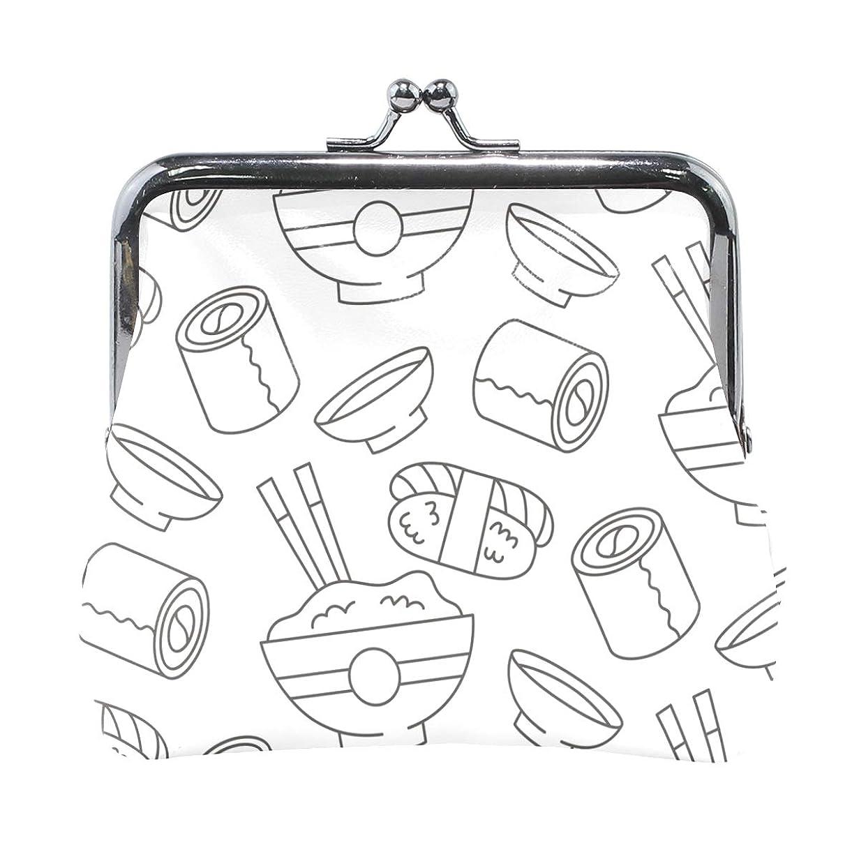 フォアタイプ所属シーサイドがま口 財布 口金 小銭入れ ポーチ すし セット 可愛い ANNSIN バッグ かわいい 高級レザー レディース プレゼント ほど良いサイズ