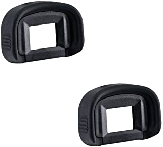 2 Pack JJC Eyecup Eyepiece Eye Cup Viewfinder for Canon EOS 5D Mark IV 5D Mark III 5DS R 5DS 7D 7D Mark II 1Dx Mark II 1Ds...