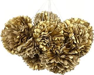 MOWO Gold Tissue Paper Flower Party Favor 12pc