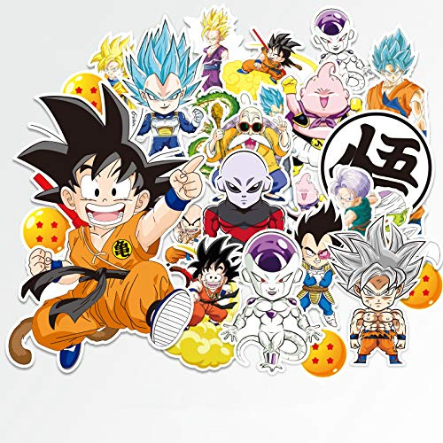 ahliwei Stickers 24 Anime Seven Dragon Beads Stickers Waterproof Stickers For Notebooks, Suitcases, Locomotives, Skateboards,