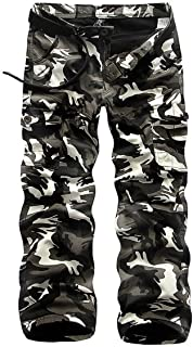 Atditama Men's Fleece Lined Cotton Casual Military Army Cargo Camo Combat Work Pants